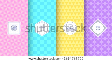 Seamless pastel diamonds pattern. Background with colorful gems Stock photo © lapesnape