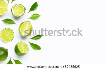taze · yeşil · yalıtılmış · beyaz · yaprak · meyve - stok fotoğraf © homydesign