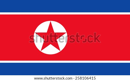 flag of north korea Stock photo © claudiodivizia