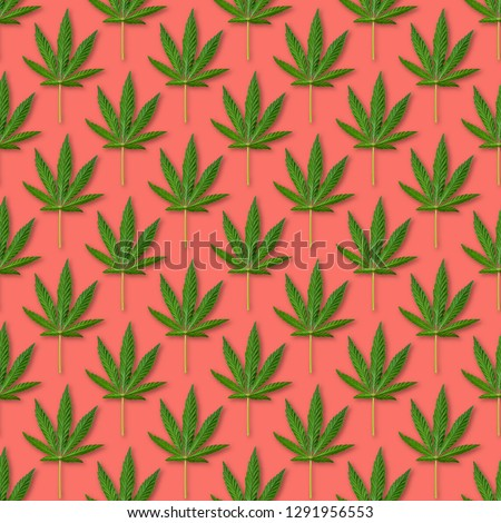 hemp floral seamless background cannabis leaf background texture vector marijuana leaves illustrat stock photo © hermione