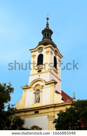 Monasterio iglesia hermanos Bratislava Eslovaquia edificio Foto stock © phbcz