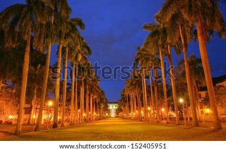 el prado avenue monumental avenue surrounding area of the pana stock photo © dacasdo