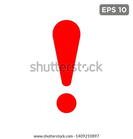 Stock photo: exclamation mark