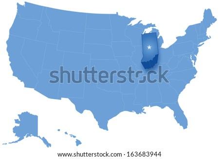 Mapa Estados Unidos Indiana fora político Foto stock © Istanbul2009