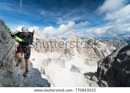 Via ferrata Tomaselli Stock photo © w20er