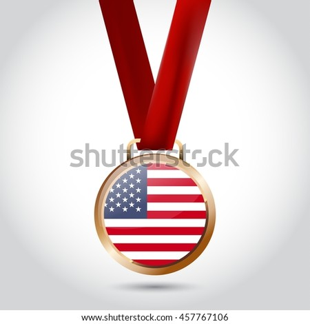 Stock photo: Silver medal for sport and  flag of american state of california
