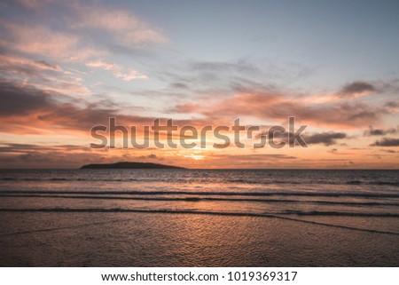 劇的な 日没 暗い 海 太陽 光 ストックフォト © mycola