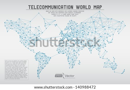 World map with a colorful blue background , eps10 vector format Stock photo © ratch0013
