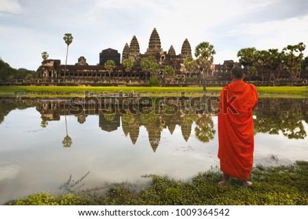 Ancient buddhist khmer temple in Angkor Wat complex, Siem Reap C Stock photo © weltreisendertj