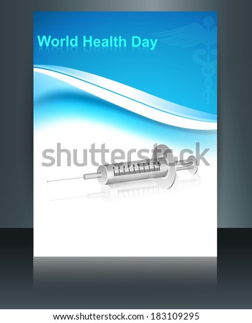 Belo seringa mundo saúde dia folheto Foto stock © bharat