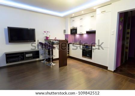 moderno · luxuoso · mansão · contemporâneo · escada - foto stock © vizarch