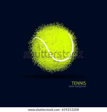 Grunge tennis poster with tennis ball and player,vector illustra Stock photo © leonido