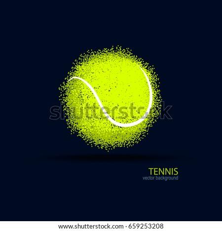 vettore · sport · palla · da · tennis · fuoco - foto d'archivio © leonido