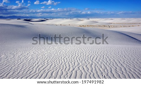 the white sands desert is located in tularosa basin new mexico stock photo © tang90246