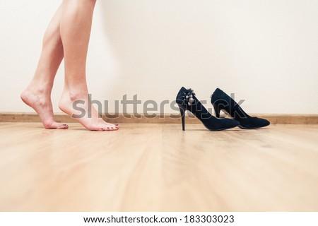 ストックフォト: エレガントな · 長い · 女性 · 脚