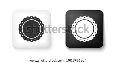 Warranty Guarantee Seal Square Vector Black Button Icon Design S Stock photo © rizwanali3d