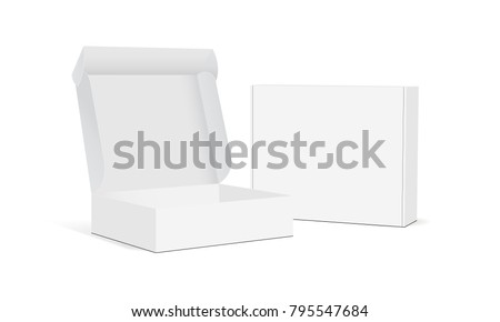 Stock photo: White Product Package Box Illustration Isolated On White Backgro