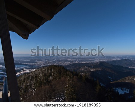 Wooden Tourist Observation Tower over a Landscape at Beautiful S Stock photo © Kayco