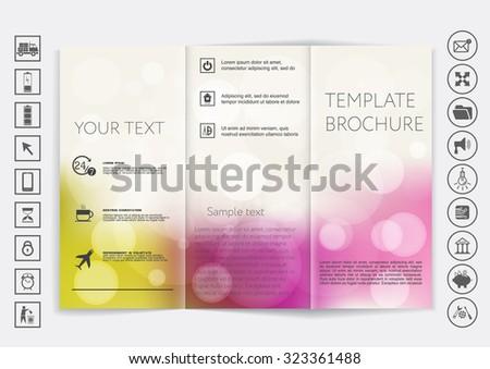 Brochure omhoog vector ontwerp bokeh corporate Stockfoto © LittleCuckoo