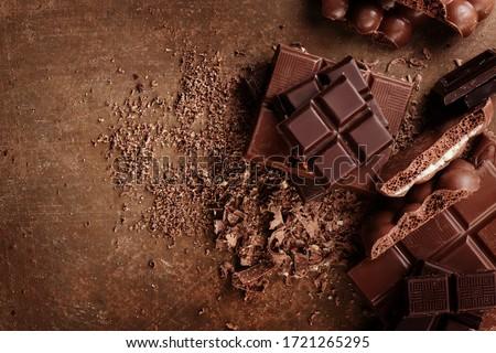 チョコレート 食品 波 食べ ホット スプラッシュ ストックフォト © joannawnuk