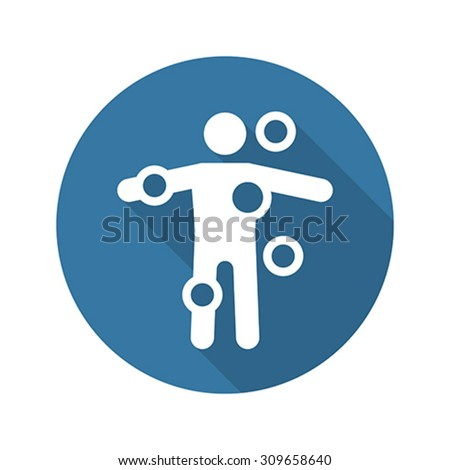 Symptom Checker and Medical Services Icon. Flat Design. Long Sha Stock photo © WaD