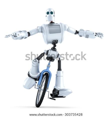 ロボット ライディング 一輪車 技術 孤立した ストックフォト © Kirill_M
