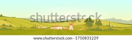 verão · campos · toscana · pôr · do · sol · céu · primavera - foto stock © dar1930