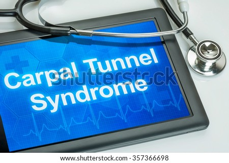 Tablet with the diagnosis Carpal Tunnel Syndrome on the display Stock photo © Zerbor