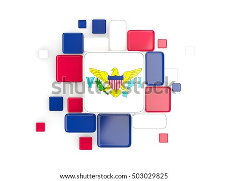 Background with square parts. Flag of virgin islands us. 3D illu Stock photo © MikhailMishchenko