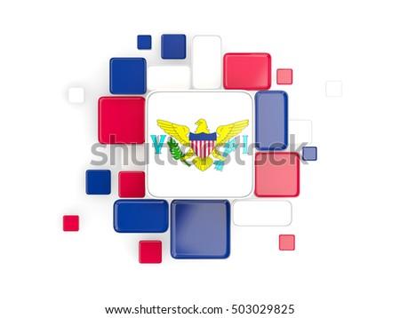 Background with square parts. Flag of virgin islands us. 3D illu Stock photo © MikhailMishchenko