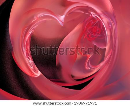 Illustration fractal résumé verre coeur Photo stock © yurkina