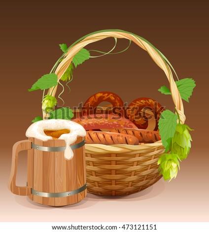 кружка · пива · крендельки · Октоберфест · продовольствие · пить - Сток-фото © orensila