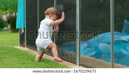 Stok fotoğraf: Güvenlik · çocuklar · havuz · çocuk · Metal · yaz