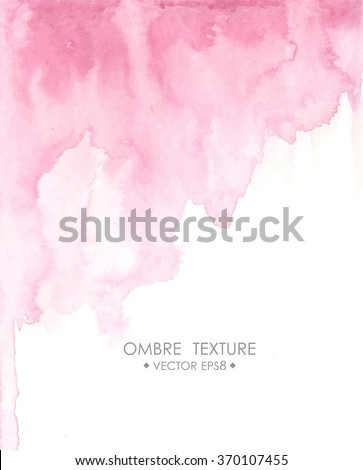 hand drawn ombre texture watercolor painted light blue background with white space for text stock photo © mcherevan