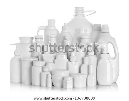 Shampoo (Cream) container isolated over the white background wit Stock photo © kayros