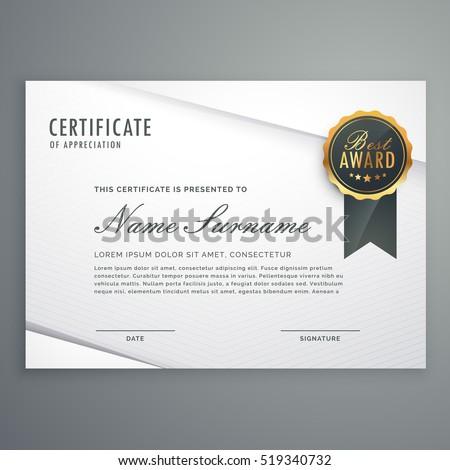 Moderne stijl certificaat waardering sjabloon Stockfoto © SArts