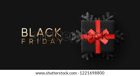 black friday sale discount background poster design with black d Stock photo © SArts