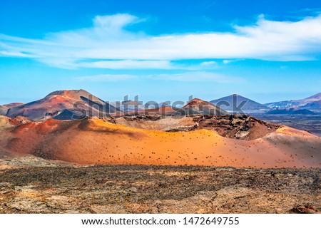 Vulkanisch landschap park ochtend licht Stockfoto © meinzahn