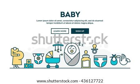 Vektor stílus illusztráció gólya gondoskodó újszülött Stock fotó © curiosity