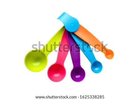 eldobható · teríték · szett · színes · műanyag · izolált - stock fotó © lightfieldstudios