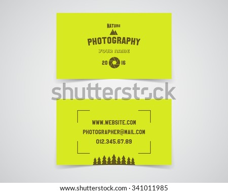 Moderno luce biglietto da visita modello fotografia studio Foto d'archivio © JeksonGraphics