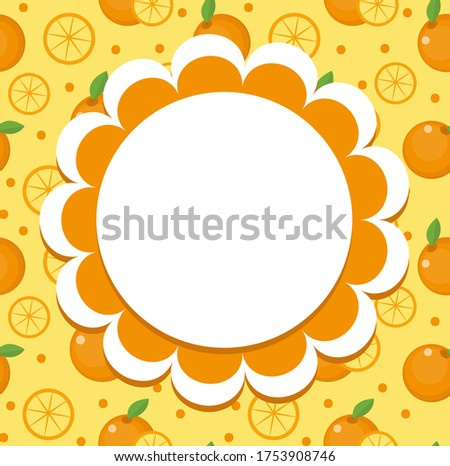 Lemon label, wrapper template for your design. Fruit frame with space for text. Vector illustration. Stock photo © lucia_fox