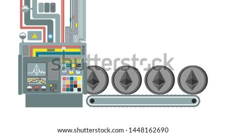 Madencilik çiftlik teknoloji sanayi web para Stok fotoğraf © popaukropa