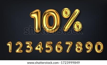 Citromsárga százalék címke számok árengedmény fehér Stock fotó © tussik
