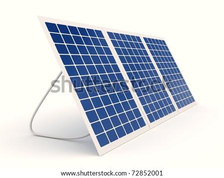 Solar energy isolated over white background Stock photo © ivonnewierink