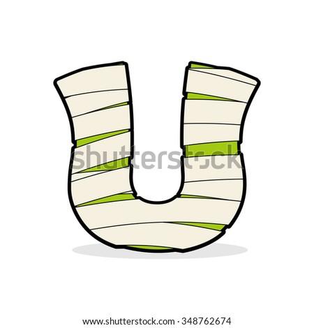 Carta monstro zumbi alfabético ícone médico Foto stock © popaukropa
