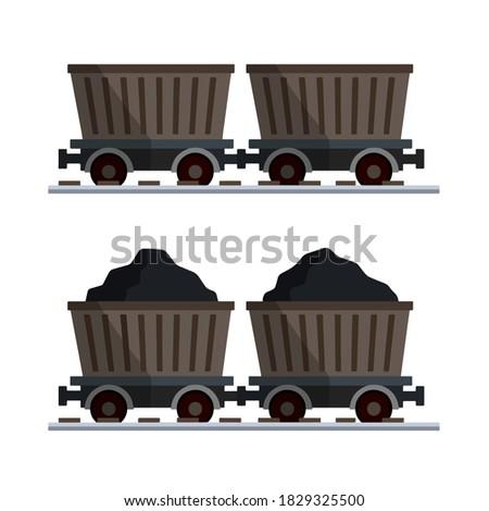 Minière vide isolé minéral vecteur design Photo stock © MaryValery