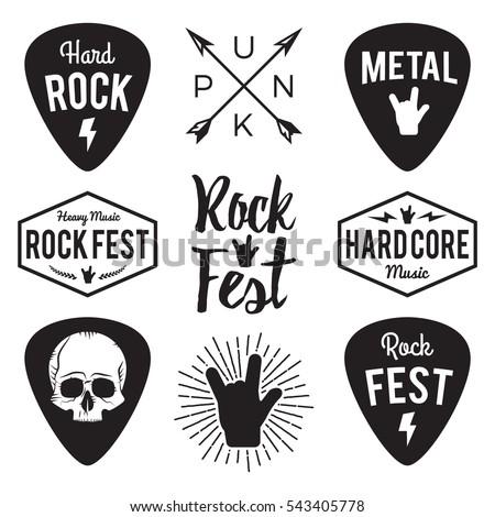 Cranio rock mano simbolo logo rock band Foto d'archivio © popaukropa