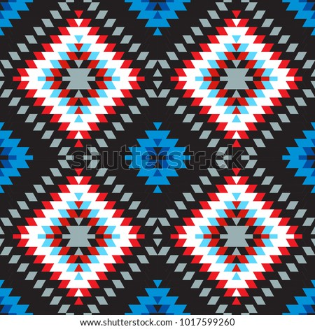 Seamless Knitted Pattern. Red Blue White Grey Color. Fashionable youth modern style Stock photo © ESSL