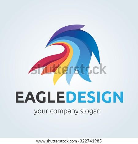 águila círculo emblema plantilla establecer halcón Foto stock © MaryValery